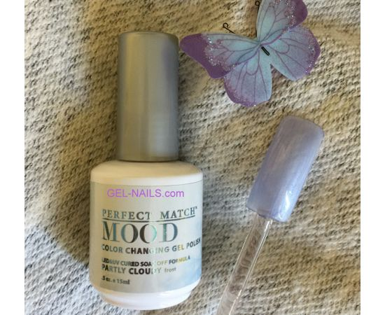 LeChat Partly Cloudy Perfect Match Mood Color Changing Gel Polish  .5oZ/15mL