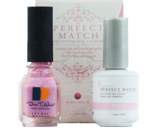 LeChat Perfect Match Gel Polish & Nail Lacquer Emperor Red 2-.5oZ/15mL